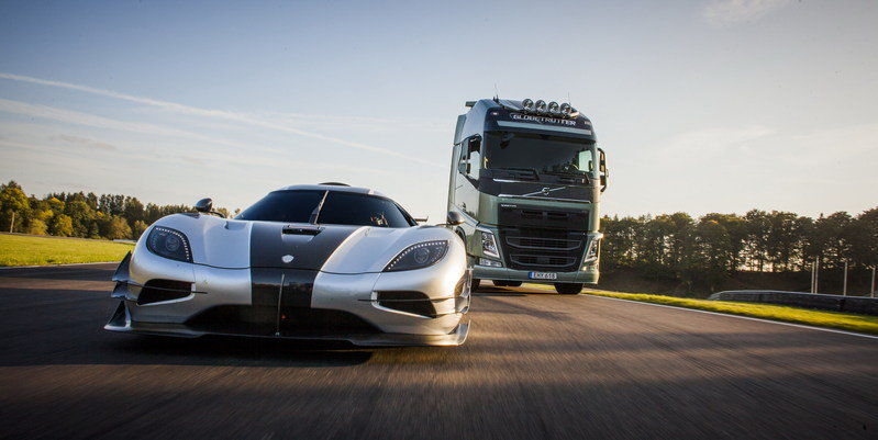 Video: Volvo Looking to Proove a Point by Pitting a Commercial Truck Against a One:1
