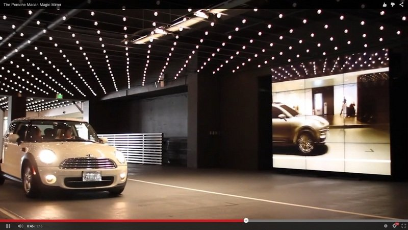 "Porsche's ""Magic Mirror"" Makes Any Car Look Like a Macan: Video"
