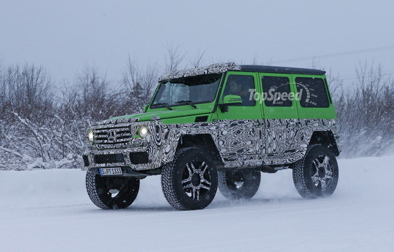 Spy Shots: Mercedes G63 AMG 4x4 Green Monster Testing On The Snow Exterior Spyshots - image 611315