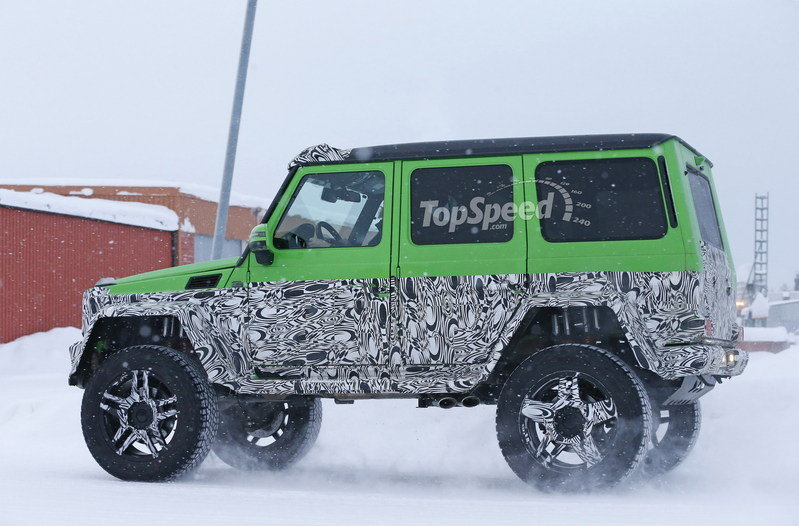 Spy Shots: Mercedes G63 AMG 4x4 Green Monster Testing On The Snow Exterior Spyshots - image 611317