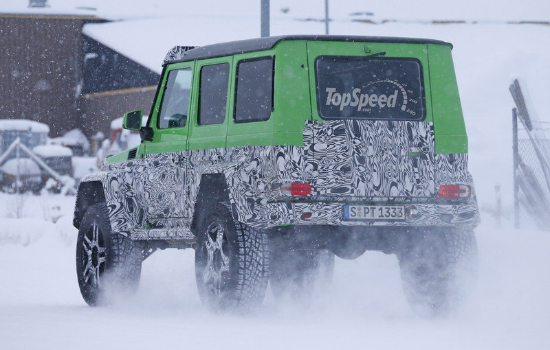 Spy Shots: Mercedes G63 AMG 4x4 Green Monster Testing On The Snow Exterior Spyshots - image 611322