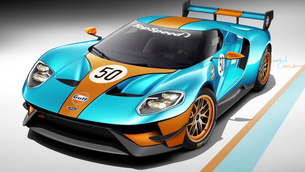 2016 Ford gt Race Car Race Version of The Ford gt