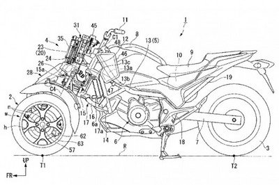 Honda Eyeing Possibility of Developing Leaning Three-Wheeled Motorcycles