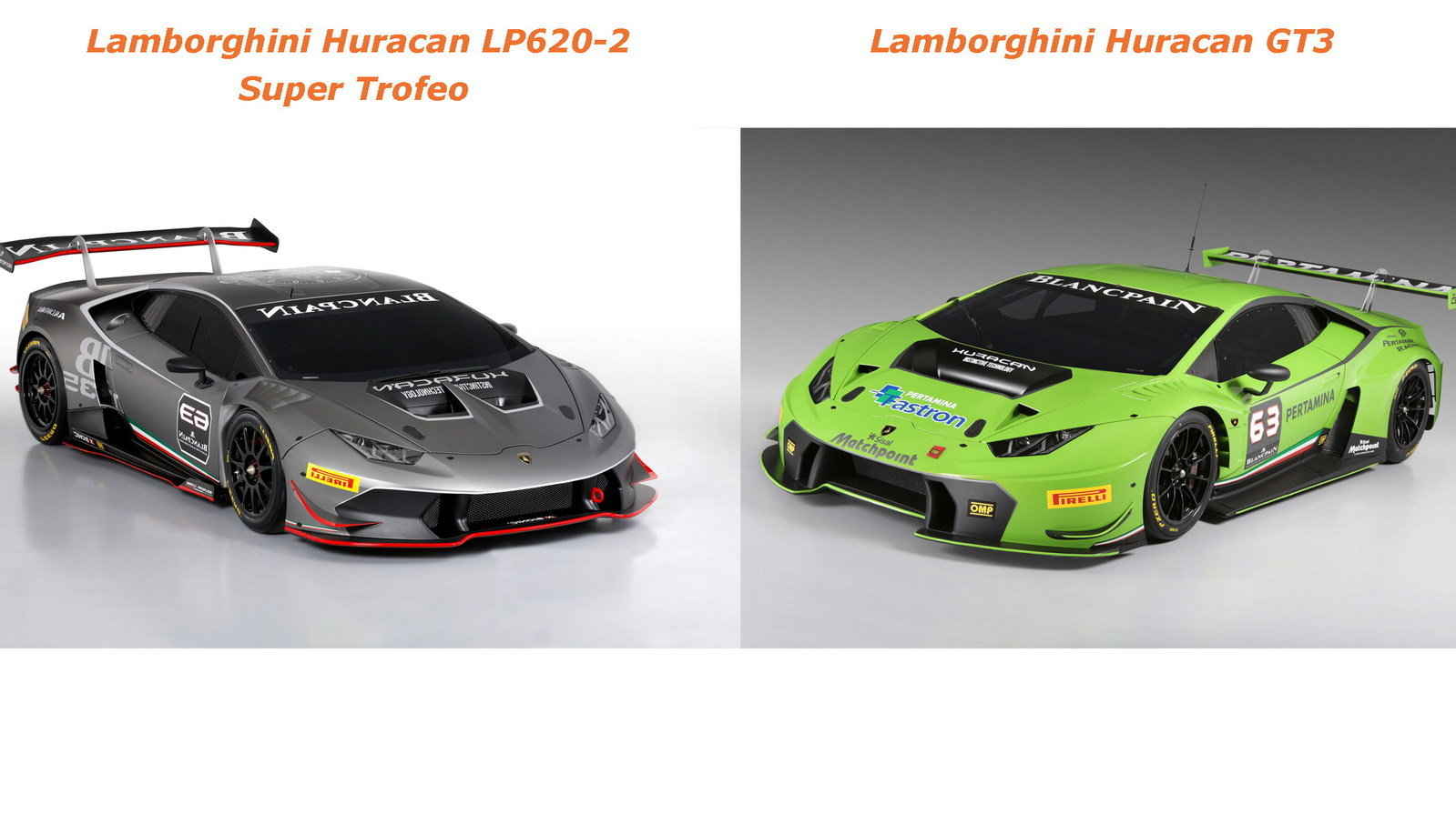 lamborghini huracan gt3 vs lamborghini huracan lp620 2 super trofeo picture 612560 car news. Black Bedroom Furniture Sets. Home Design Ideas