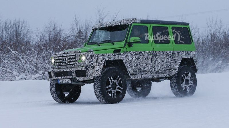 Spy Shots: Mercedes G63 AMG 4x4 Green Monster Testing On The Snow