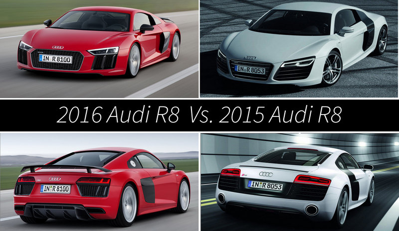 The New R8 The Old R8 Side By Side Cars Pinterest