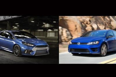 2016 Ford Focus RS VS. 2016 Volkswagen Golf R