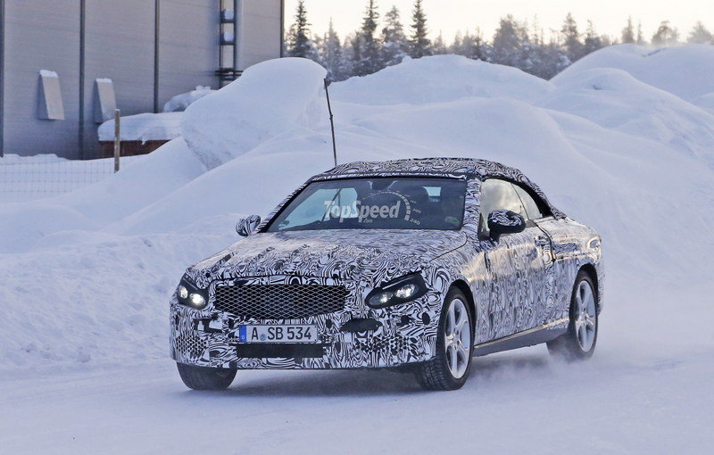 Spy Shots: Mercedes C-Class Convertible Goes Winter Testing Exterior Spyshots - image 615901