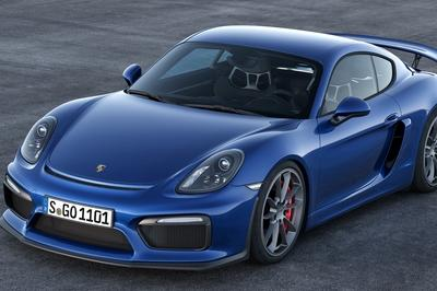 Porsche has oficially unveiled the 385-horsepower Cayman GT4, see it at TopSpeed.com.
