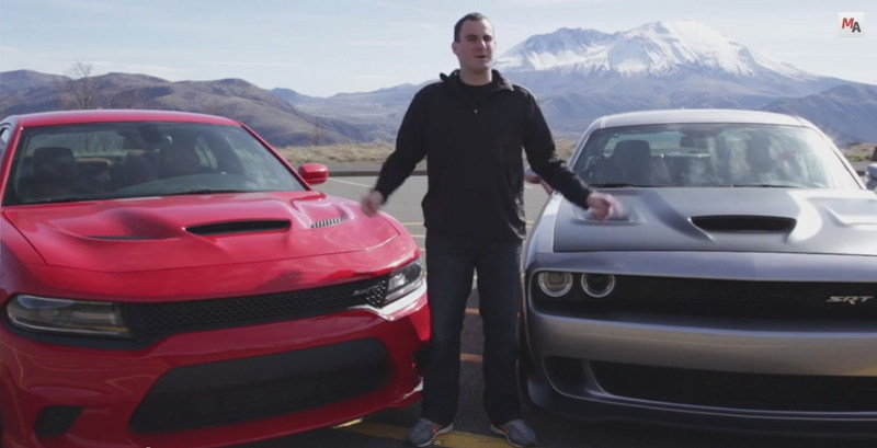 Dodge Challenger Hellcat Vs. Dodge Charger Hellcat: Video