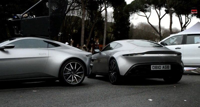 Aston Martin DB10 On The Spectre Movie Set: Video