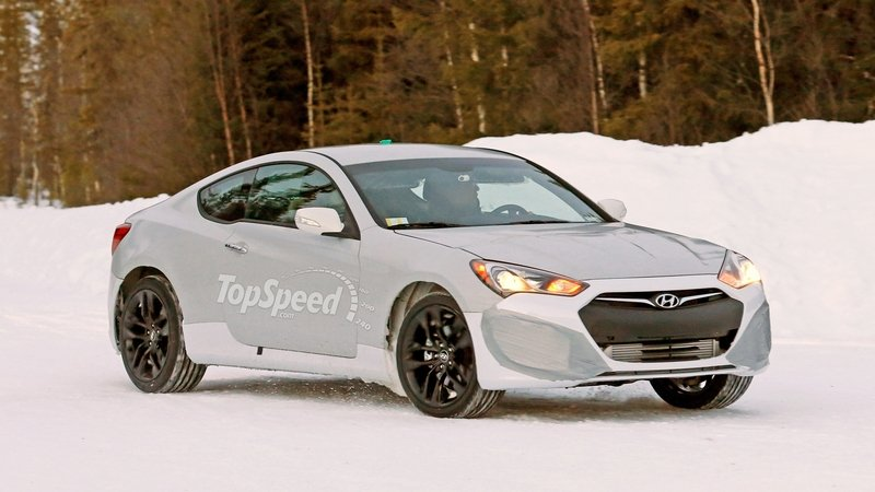 Spy Shots: 2016 Hyundai Genesis Coupe Playing In The Snow
