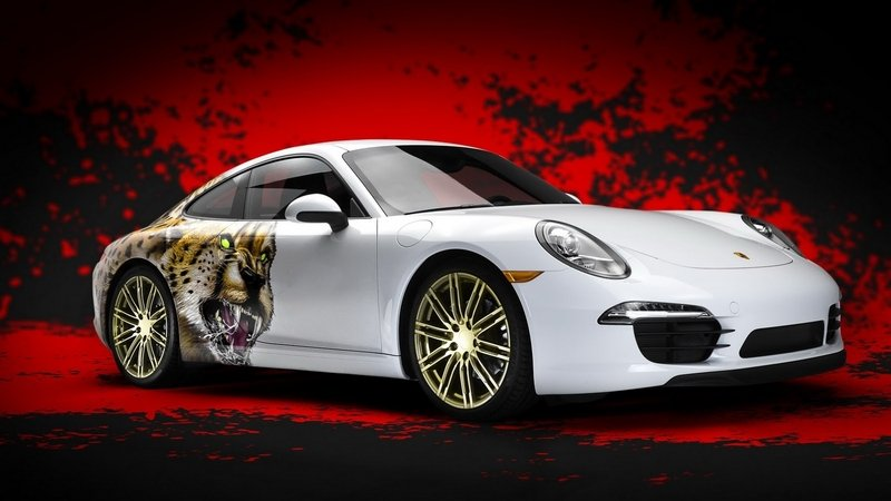 Three NFL Players Will Win Custom Porsche 911 Carrera With Cheetah Graphics