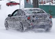 BMW 1 Series Sedan Caught Winter Testing: Spy Shots - image 619450