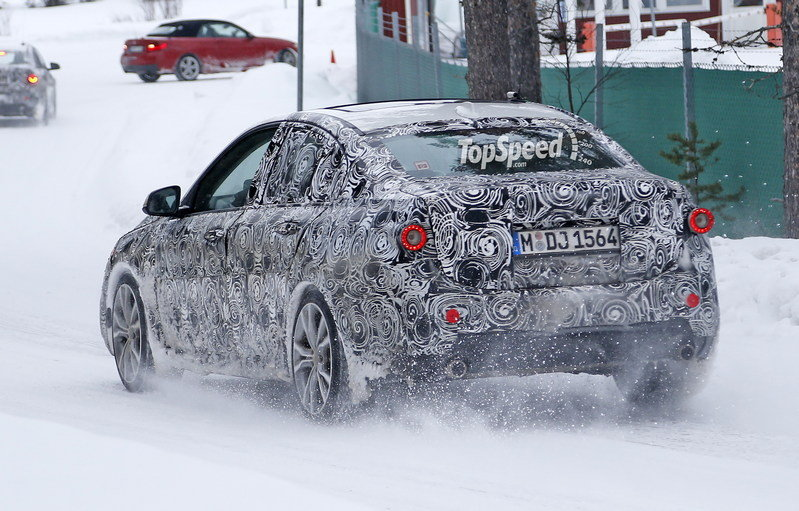 BMW 1 Series Sedan Caught Winter Testing: Spy Shots Exterior Spyshots - image 619450