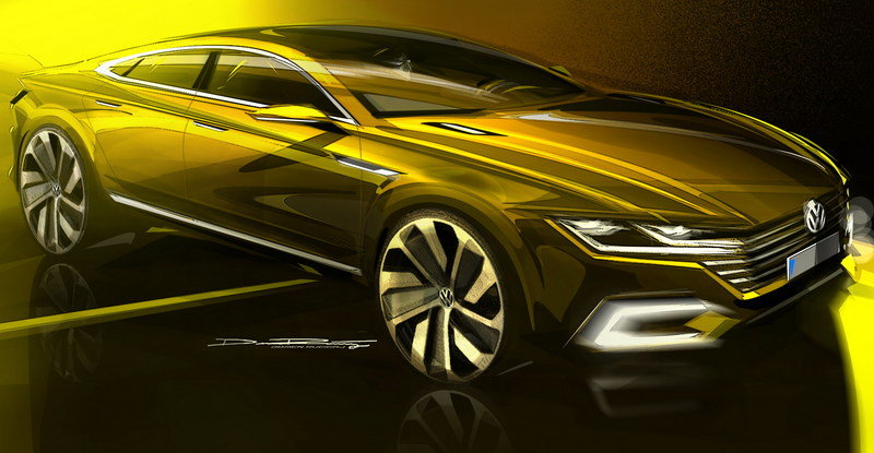 2015 Volkswagen Sport Coupe Concept GTE Exterior Drawings - image 619573