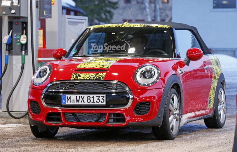 Mini JCW Convertible Shows Some Skin: Spy Shots