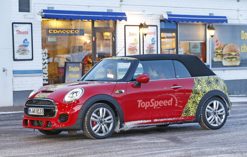 Mini JCW Convertible Shows Some Skin: Spy Shots Exterior Spyshots - image 621277