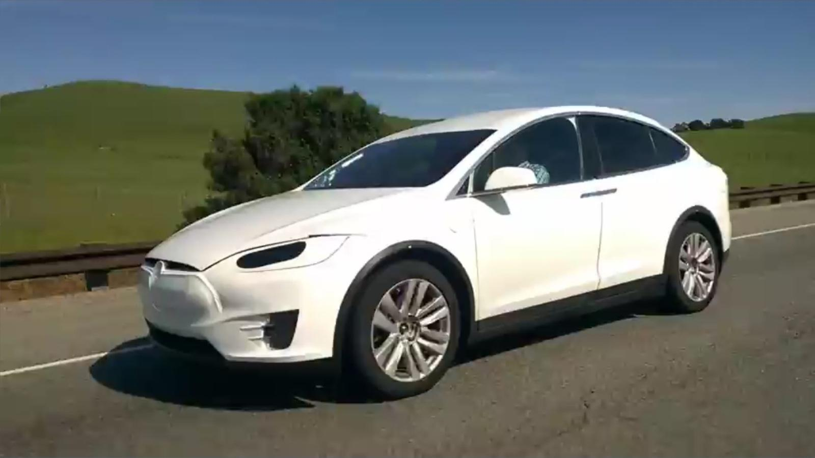 2016 tesla model x caught on the road video news gallery top speed. Black Bedroom Furniture Sets. Home Design Ideas