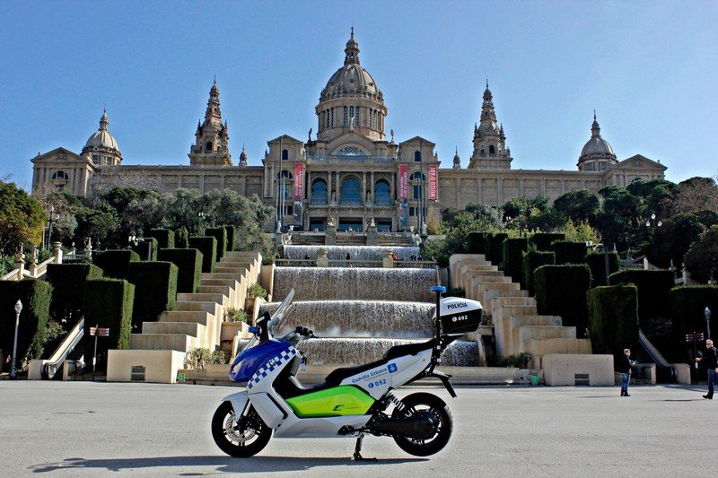 BMW Delivers Fleet Of Electric Maxi Scooters To Barcelona Police
