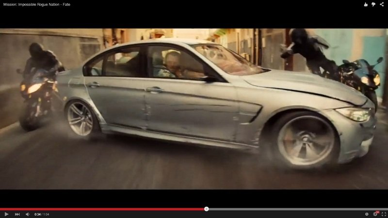 BMW M3 Stars In Mission Impossible Rogue Nation: Video