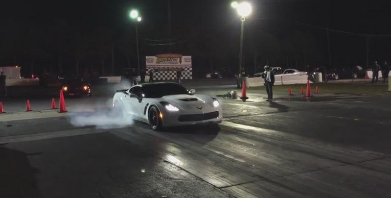 Custom Corvette Z06 Runs Quarter Mile In 9 Seconds: Video