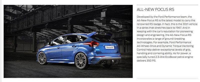 2016 Ford Focus RS Will NOT Have 345 Horsepower - image 620920