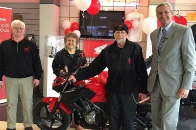 Honda Gives Loyal Customer 55th Honda Motorcycle