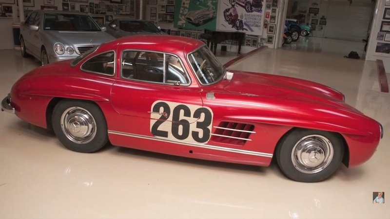 Jay Leno Reviews 1955 Mercedes-Benz 300SL Gullwing Coupe: Video