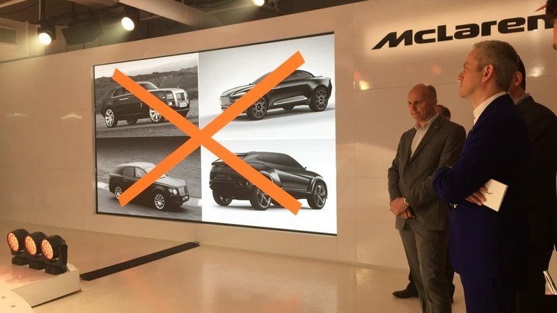 McLaren Just Says No To SUVs