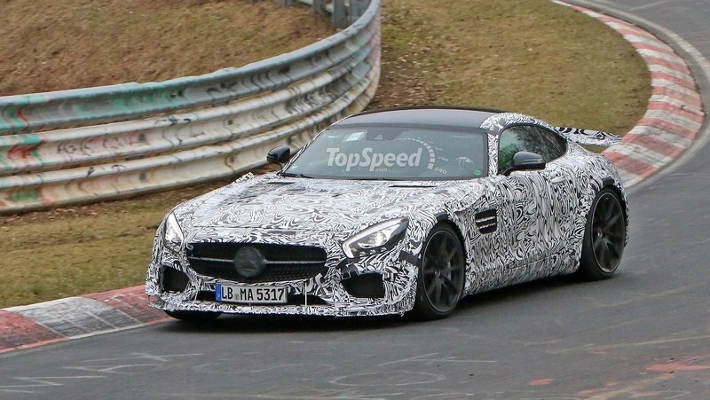 Track-Ready Mercedes-AMG GT Spotted On the Nurburgring: Spy Shots