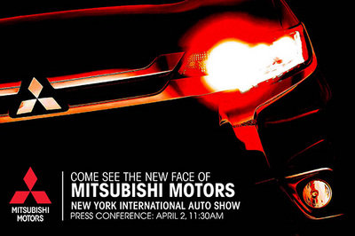 2016 Mitsubishi Outlander Teased Ahead of New York Debut