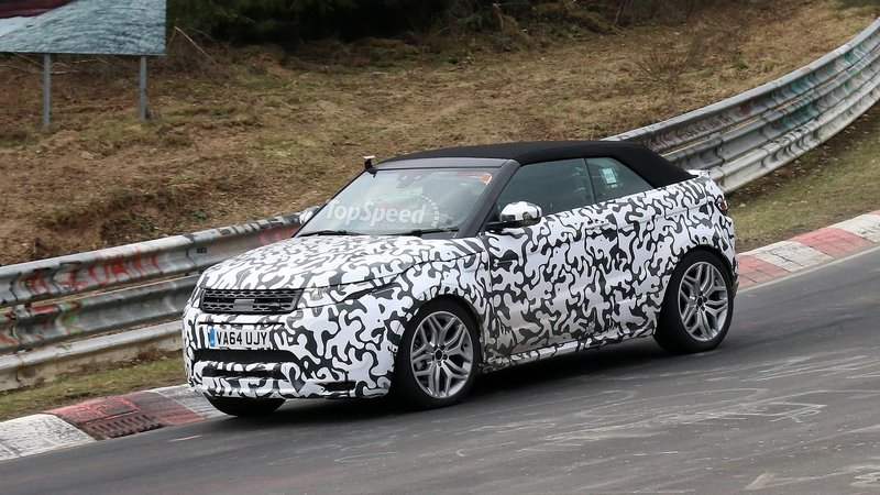 Range Rover Evoque Convertible Testing At The Nürburgring And In The Snow: Spy Shots
