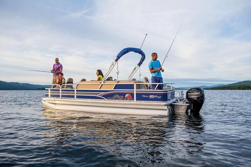 2015 SUN TRACKER FISHIN BARGE 20 DLX