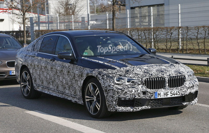 BMW 7 Series Caught Wearing M Sport Package Spy Shots