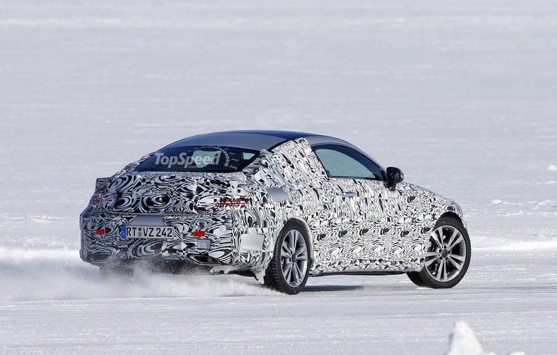 2016 Mercedes-Benz C-Class Coupe Snow-Drifting: Spy Shots - image 624901