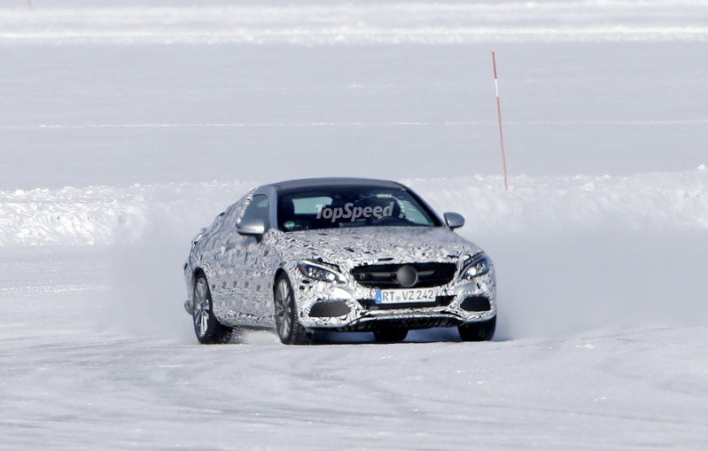 2016 Mercedes-Benz C-Class Coupe Snow-Drifting: Spy Shots - image 624900