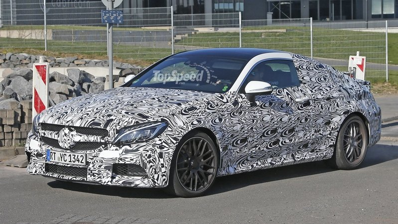 2017 Mercedes-AMG C63 Coupe Begins Testing: Spy Shots
