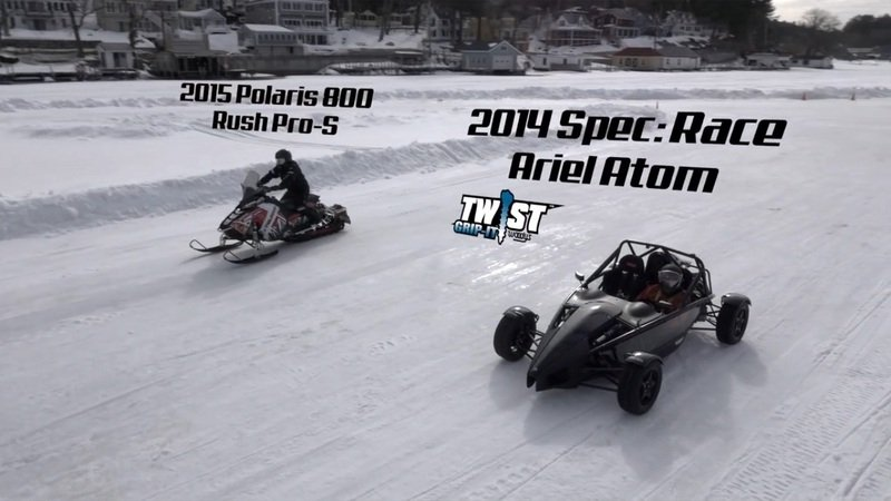 Ariel Atom Vs. Snowmobile: Video