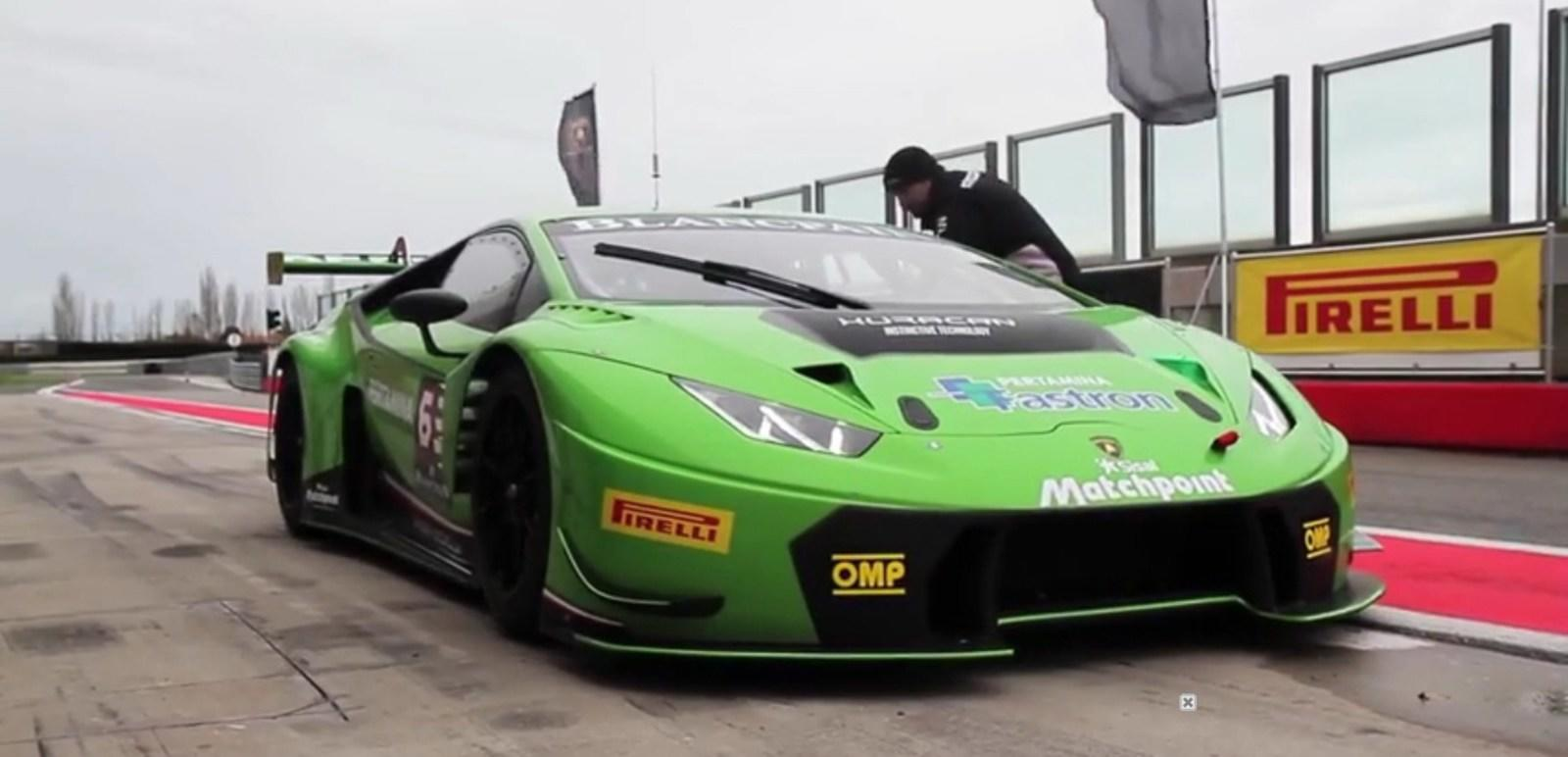 lamborghini huracan gt3 on the race track video news. Black Bedroom Furniture Sets. Home Design Ideas