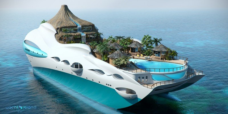 Yacht Island Design Introduces Incredible Island-On-A-Yacht Concept