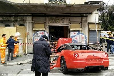 Valet Parking Crashes Ferrari 599 GTO
