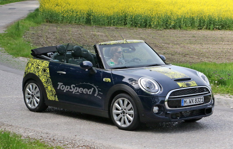 Mini Cooper S Convertible Driving Open Top: Spy Shots
