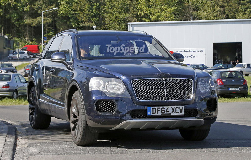 Bentley Bentayga Caught Testing Near Nurburgring: Spy Shots