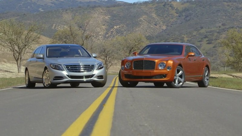 Bentley Mulsanne Speed Vs. Mercedes Maybach: Video