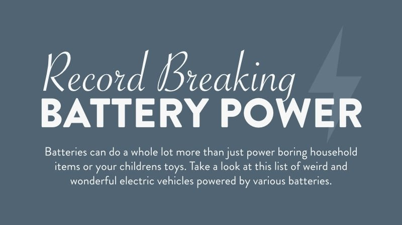 Car Infographic: Record Breaking Battery Power