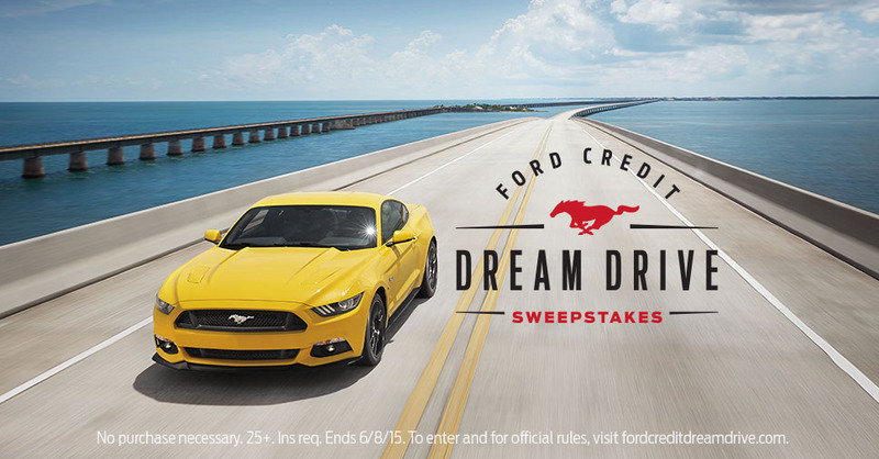 Ford Credit Dream Drive Sweepstakes Offers You the Chance to Win a Trip in a 2015 Mustang