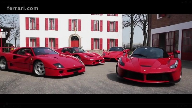 Four Ferraris Brought To Fiorano For Dario Benuzzi: Video