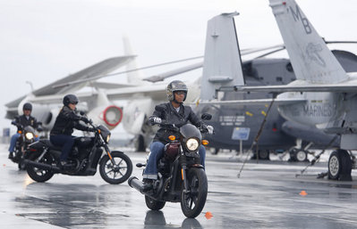 Harley-Davidson Gives Our Soldiers Riding Lessons