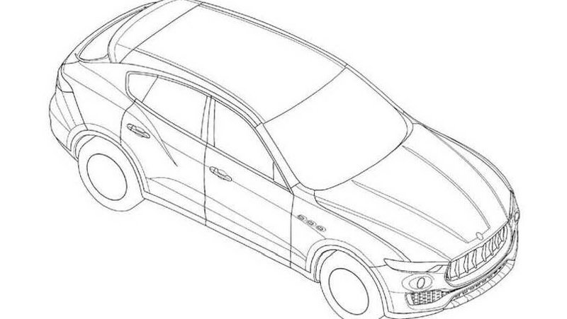 Maserati Levante Revealed In Design Patents